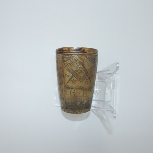 c.1800 AASR horn cup, hand made