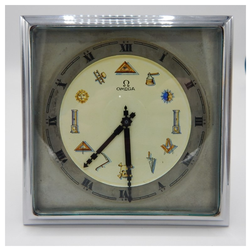 Omega table clock early twentieth century