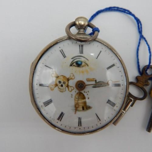 c. 1825  antique silver pocketwatch 1