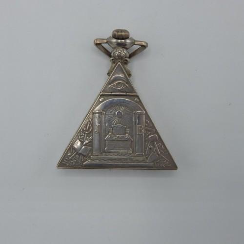 silver triangleTempor pocket watch no 3