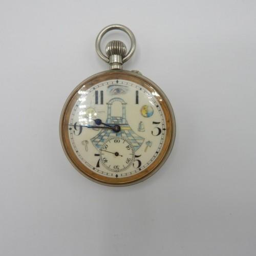Large masonic pocketwatch nr 7
