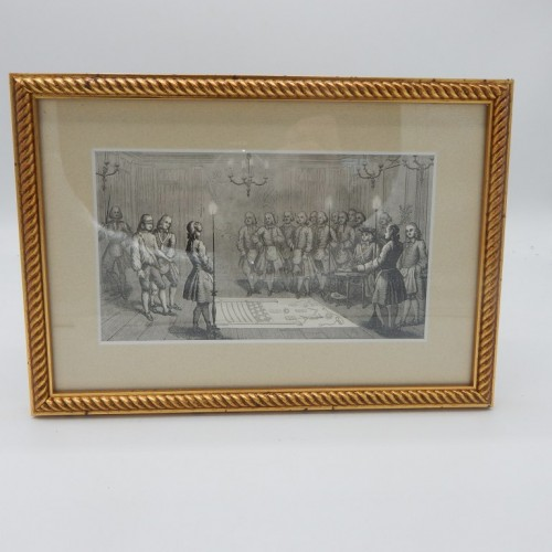 1843 framed engraving  explanation Tableau