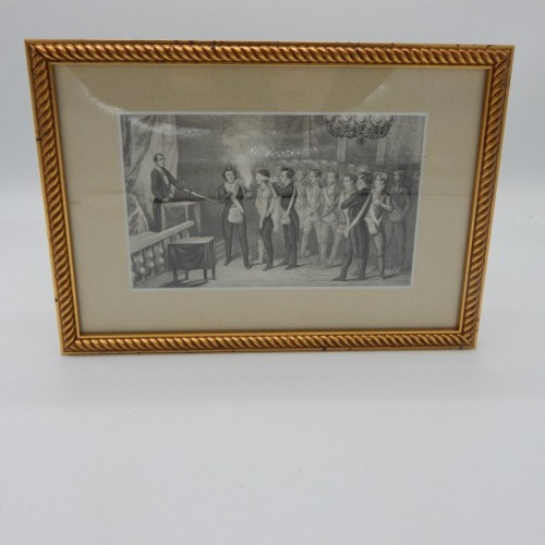 1843 framed engraving  initiation