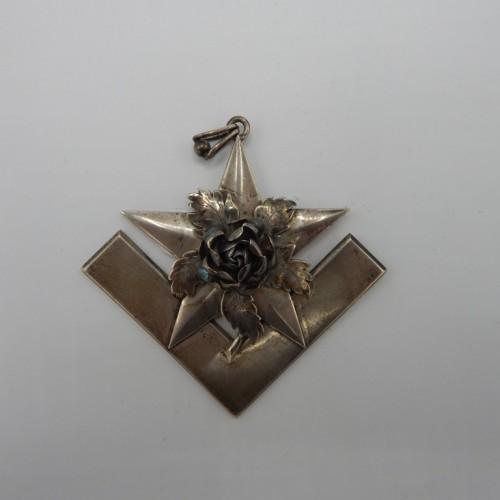 bijzonder zilveren juweel Loge de Ster in Het oosten