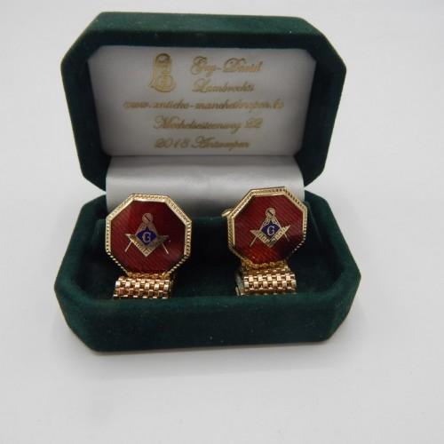 exclusive masonic cufflinks Rhodium