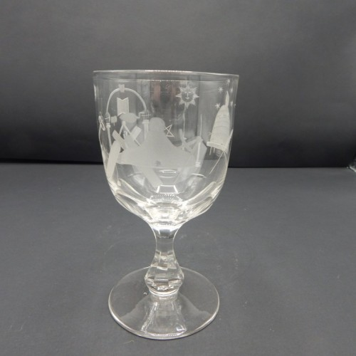 19 th century English wineglass crystal no 2