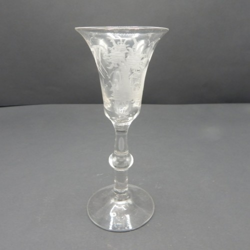 19th century Dutch Masonic glass with mill