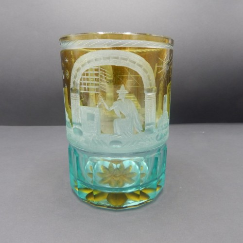 c. 1880-1900 large goblet of colored glass nr 15