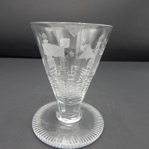 c. 1875 bijzonder gegraveerd Engels glas no 18
