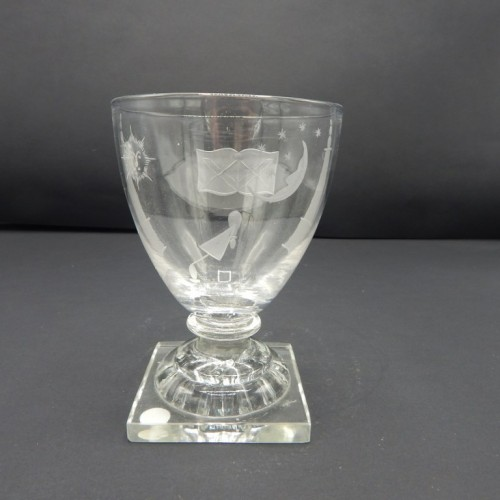 c. 1880-1900 large clear glass on stand no. 22