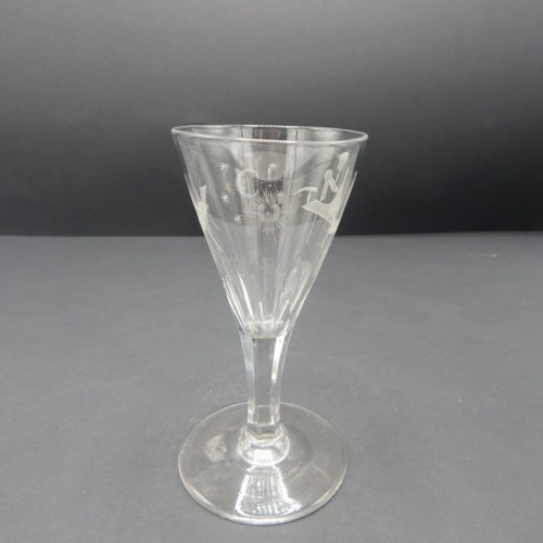 c.1800 finely engraved drinking glass no. 23