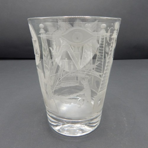 early 19 century English engraved crystal cup no. 29