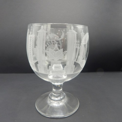early 19 century large English engraved goblet no. 31