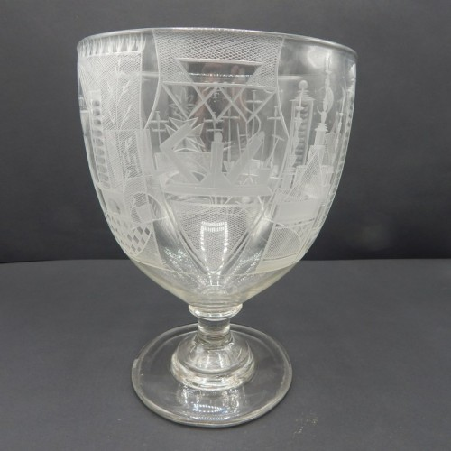 exceptionally large engraved English cup c. 1825 No. 33