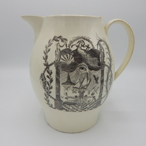 c. 1780 large English jug Liverpool nr 34