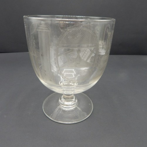 early 19th century English beautifully engraved jar on foot no 40
