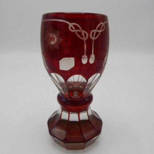 c. 1850 particularly red colored Bohemian glass