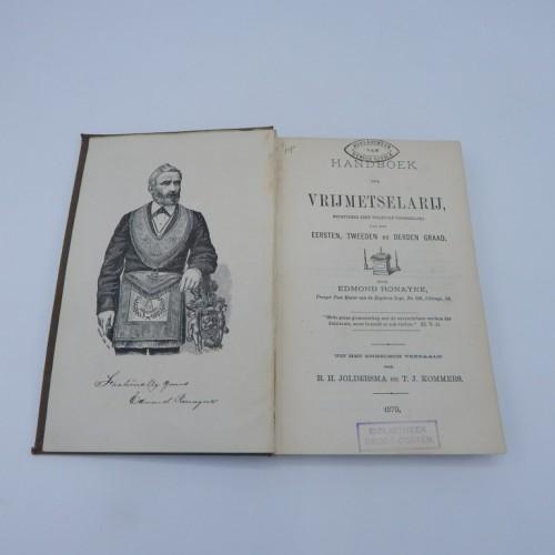 1879 handboek der vrijmetselarij
