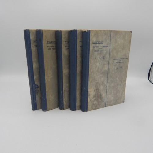 1922 Wolfstieg, august 5 volumes complete rare