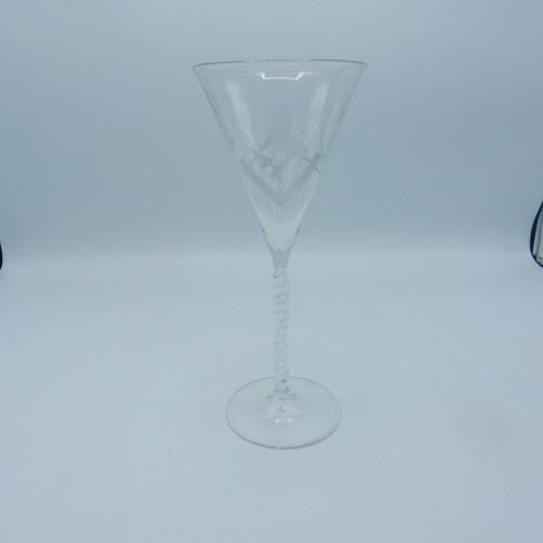 tall wine glass turned base c. 1900 No. 34