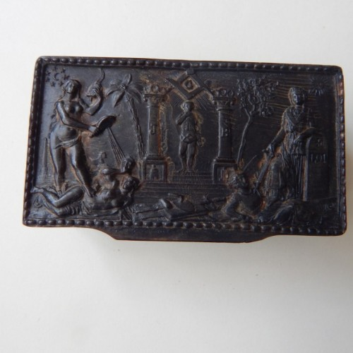tobacco box-snuff box 7 Masonic allegory