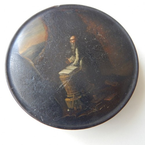 tobacco box-snuff box 10 hand-painted Masonic allegory