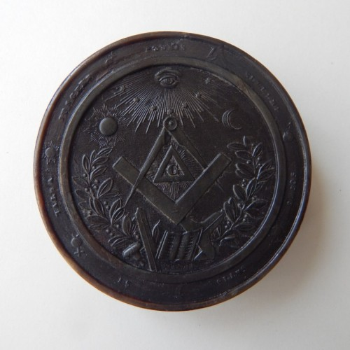 tobacco box-snuff box 11 Masonic allegory