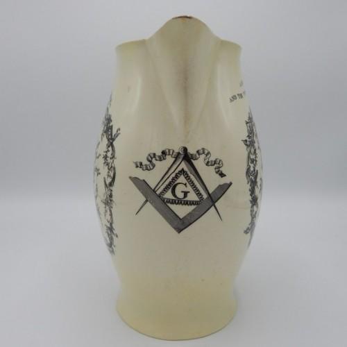 c. 1780 large English jug Liverpool