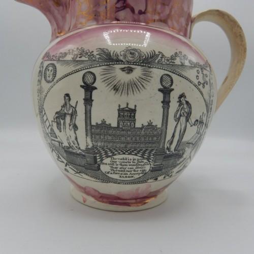 large Sunderland jug early 19th century England