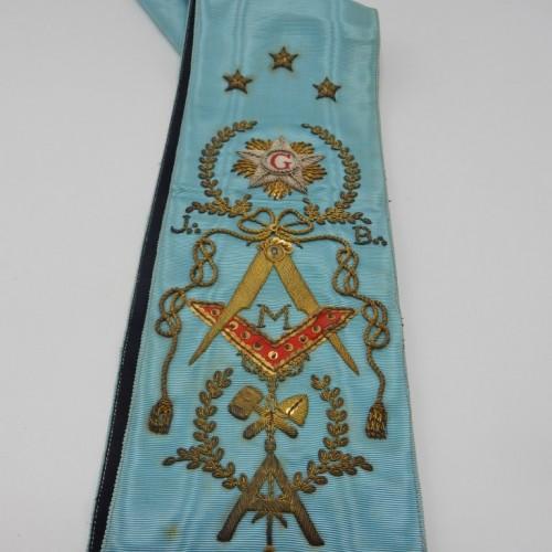 hand embroidered master sash