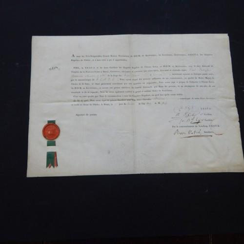 1805 Tournai- Doornik  Royal order Kilwinning