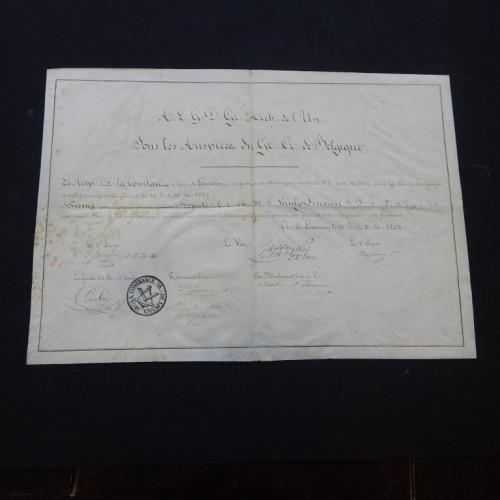 1842 Rose Croix La Constance  Leuven