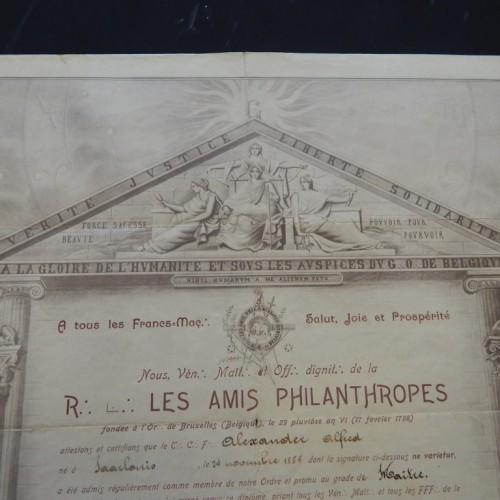 1905 Les Amis Philantropes Brussel