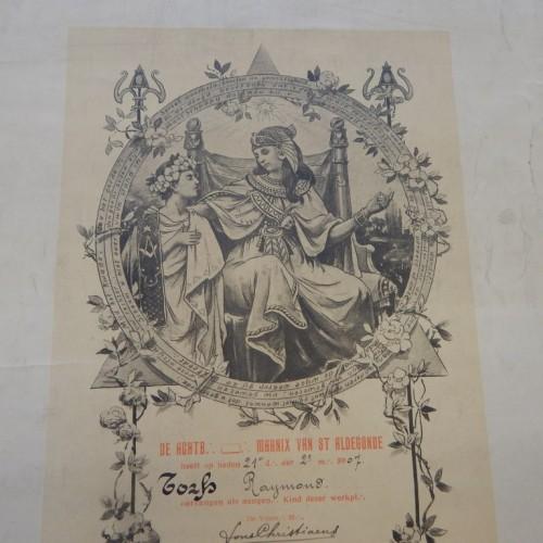 1907 Marnix van St Aldegonde  diplome d'adaption