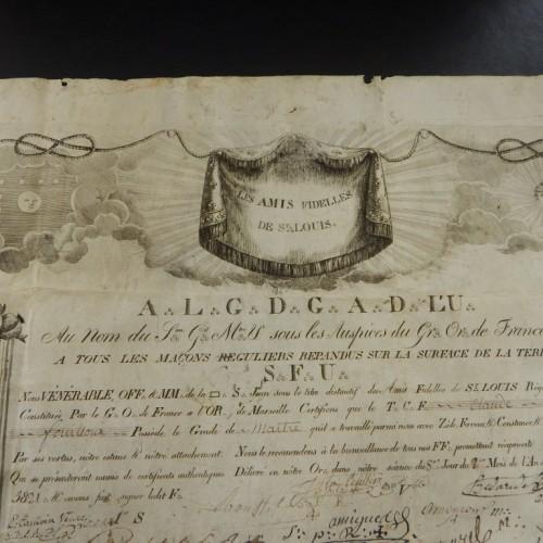 1821 Loge Des Amis Fidelles Marseille