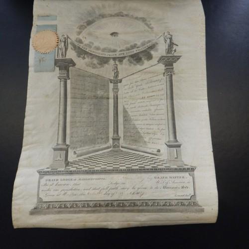 1828 diploma Boston USA