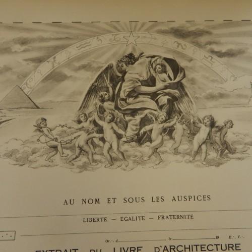 1935 Diploma France pas entré - blanco