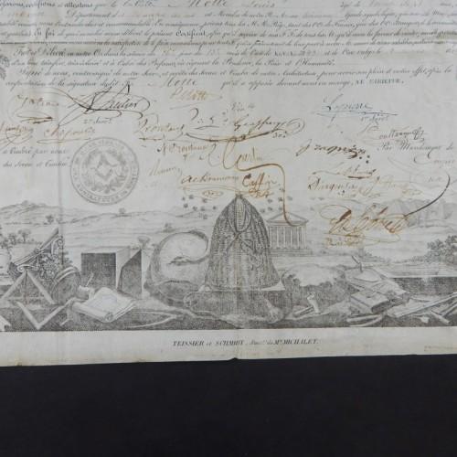 1844 Loge les Admirateur Montyon