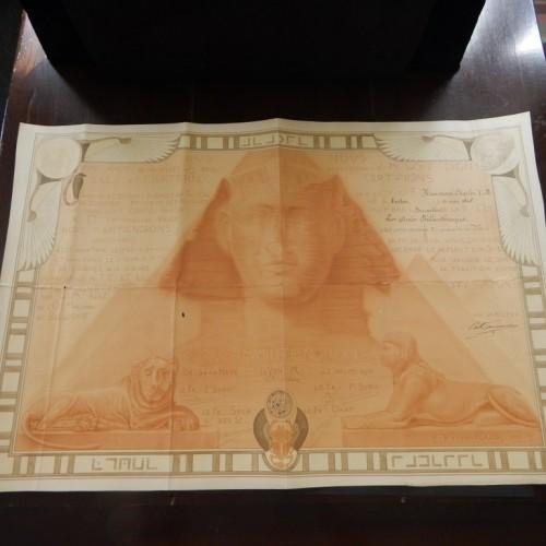 1916 Den Haag Brussel Egyptische stijl