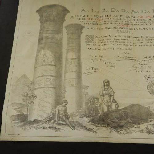 1882 Antwerpen  Les Amis du commerce et la perseverance reunis