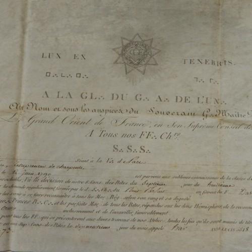 1818 Chapitre Du Point Parfait Paris