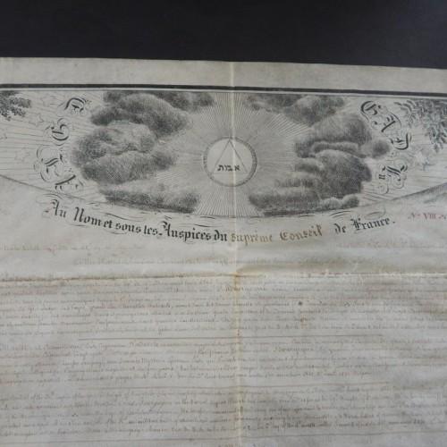 1831 Grade Chevalier Kadosh supreme conseil