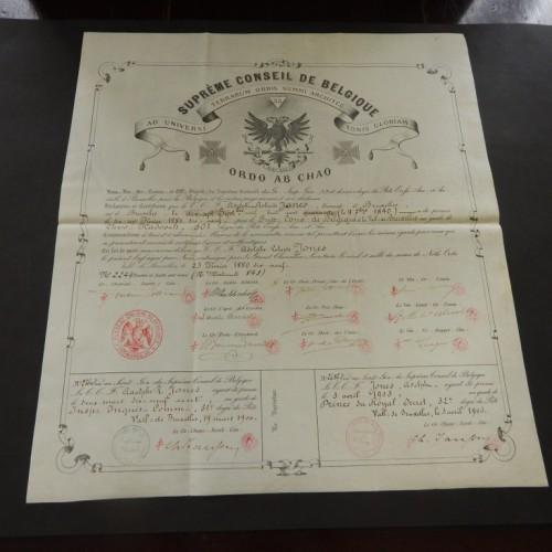 1880-1903 AASR REAA grade 30+31+32 Brussel