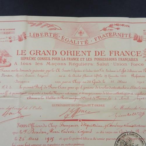 1905 Rose croix Paris