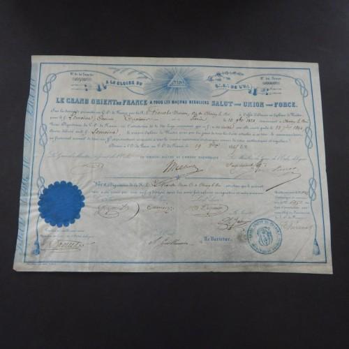 1869 loge Franche Union Choisy le Roi
