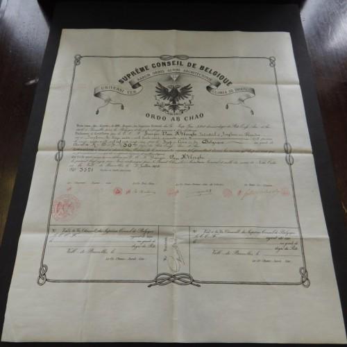 1925 Belgium supreme conseil AASR REAA