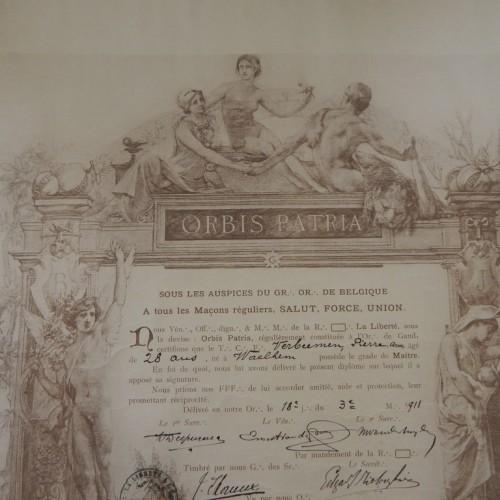 1911 Loge La liberte Gent Gand