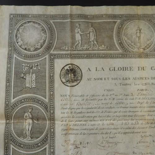 1812 Loge Amitie Hospitalite Sette