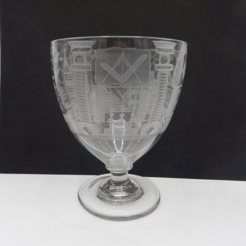 Particularly large engraved English cup c. 1825 No. 34