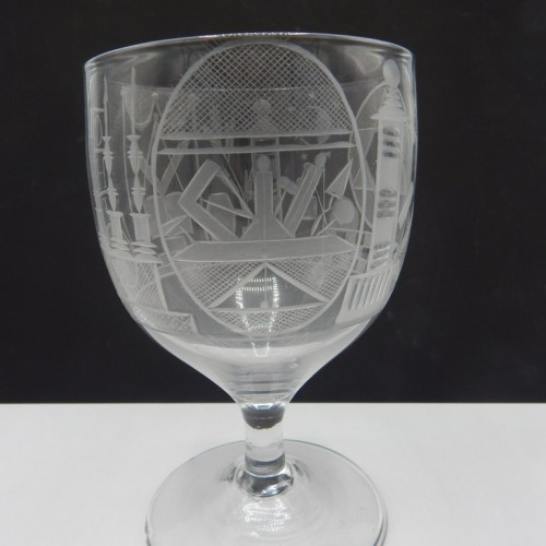 beautifully engraved English cup c. 1825-50 No. 35